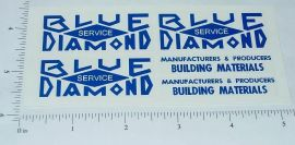 Blue Diamond Dump Truck Sticker Set