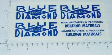 Blue Diamond Dump Truck Sticker Set Main Image