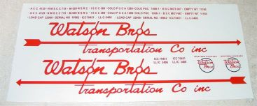 Smith Miller Watson Bros Semi Truck Sticker Set Main Image