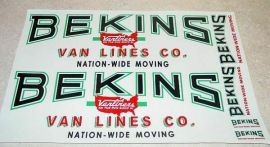 Smith Miller Mack Large Graphic Bekins Stickers