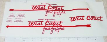 Smith Miller West Coast Fast Freight Sticker Set Main Image