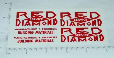 Smith Miller Red Diamond Dump Truck Sticker Set Main Image