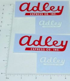 Smith Miller Adley Express Semi Truck Sticker Set