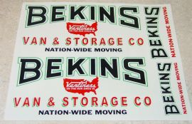 Smith Miller Mack Small Graphic Bekins Stickers