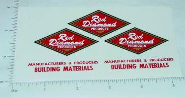 Smith Miller Red Diamond Dump Truck Stickers Main Image