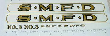Smith Miller SMFD Fire Ladder Truck Sticker Set Main Image