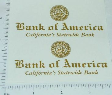 Smith Miller Bank of America Truck Stickers Main Image