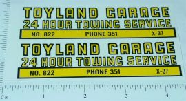 Structo Toyland Towing Service Truck Stickers