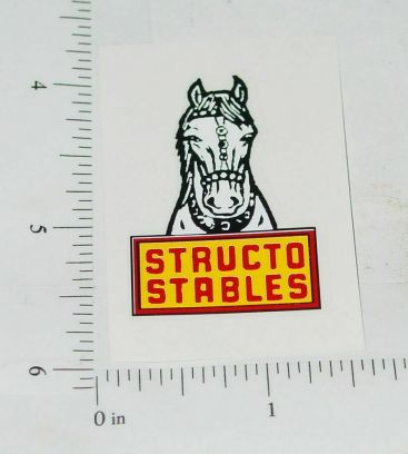 Structo Stables Small Horse Trailer Rear Door Replacement Sticker Main Image