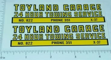 Structo Toyland Towing Service Truck Stickers Main Image