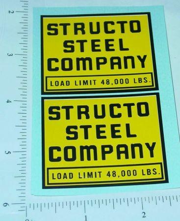 Structo Steel Company Semi Truck Stickers Main Image