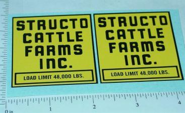 Structo Cattle Farms Semi Truck Stickers Main Image