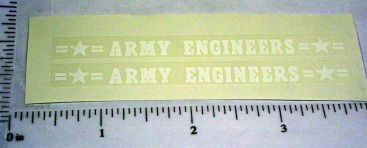 Structo Army Engineers Vehicle Stickers Main Image