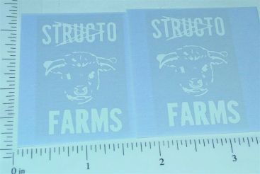 Structo Farms Stake Truck Stickers Main Image