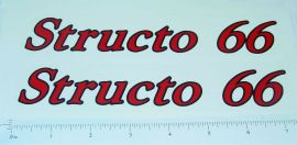 Structo 66 Tanker Red/Black Sticker Set