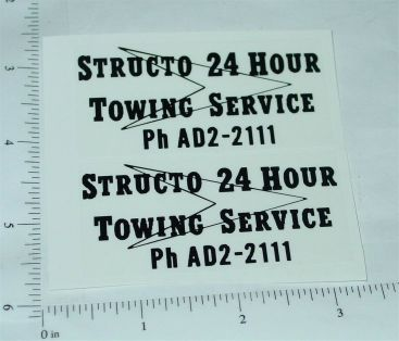 Structo 24 Hour Towing Service Stickers Main Image