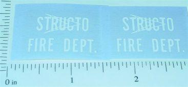 Structo Fire Department Truck Sticker Set Main Image