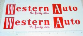 Structo Western Auto Semi Trailer Stickers