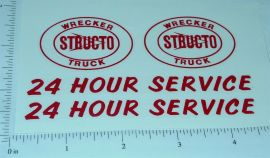 Structo Wrecker w/24 Hour Towing Stickers
