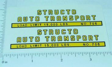 Structo Auto Transport Sticker Set Main Image