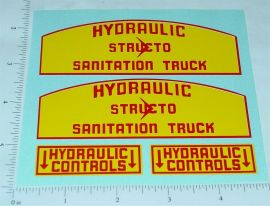 Structo Hydraulic Sanitation Truck Stickers
