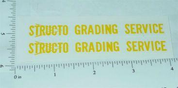 Structo Grading Service Dump Truck Stickers Main Image