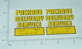 Structo Package Delivery Truck Stickers