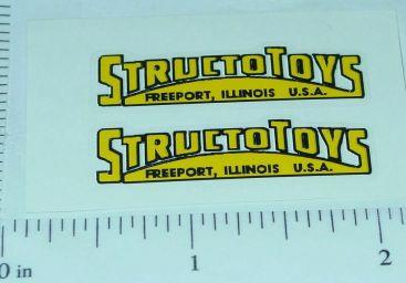Structo Yellow/Black Door Stickers Main Image