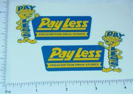 Structo Payless Drugstore Panel Van Stickers