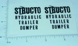 Structo Hydraulic Dumper Trailer Sticker Set