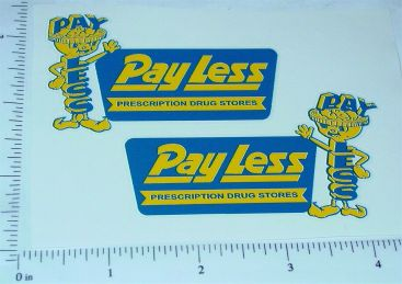 Structo Payless Drugstore Panel Van Stickers Main Image