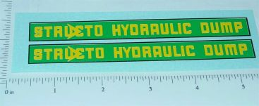 Structo 1950's Hydraulic Dump Truck Stickers Main Image