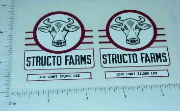 Structo Farms Semi Trailer Sticker Set Main Image