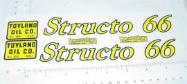 Structo 66 Toyland Oil Tanker Truck Stickers
