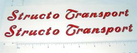Structo Transport Semi Trailer R/B Stickers