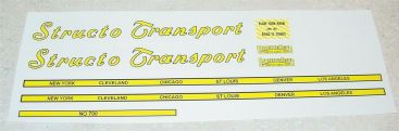 Structo Transport Semi Trailer Sticker Set Main Image
