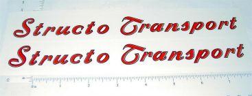 Structo Transport Semi Trailer R/B Stickers Main Image
