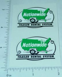 Structo Nationwide Trailer Rental Stickers