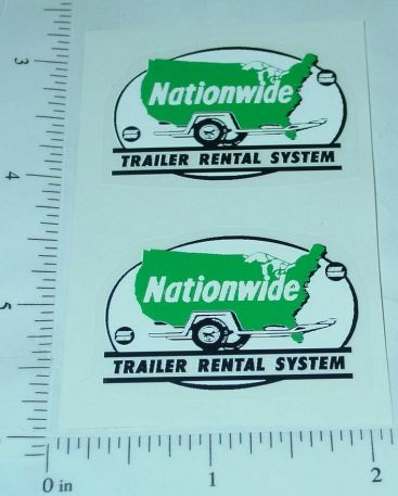 Structo Nationwide Trailer Rental Stickers Main Image