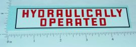 Structo Hydraulically Operated Truck Sticker