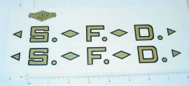 Structo SFD Fire Ladder Truck Stickers