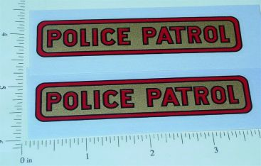 Pair Structo Pre-War Police Patrol Truck Stickers Main Image