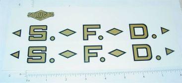 Structo SFD Fire Ladder Truck Sticker Set Main Image