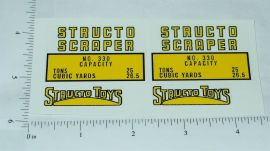 Structo Scraper Construction Vehicle Stickers