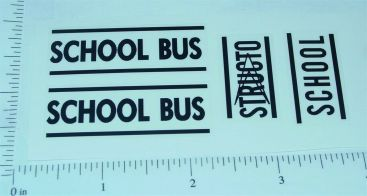 Structo Corvair School Bus Sticker Set Main Image