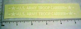 Structo US Army Troop Carrier Truck Stickers