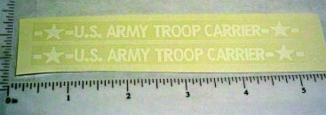Structo US Army Troop Carrier Truck Stickers Main Image