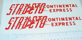 Structo Transcontinental Express Stickers       ST-059R