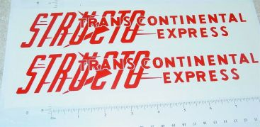 Structo Transcontinental Express Stickers       ST-059R Main Image
