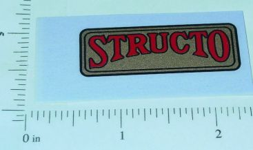 Structo Pre-War Metallic Gold/Red Logo Sticker Main Image